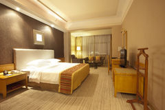 Wide angle view of luxuary hotel room Royalty Free Stock Image