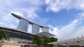 Wide Angle view of Marina Bay Sands Stock Photos