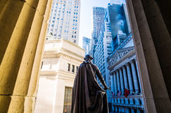 Wide-angle view of the New York Stock Exchange Stock Image