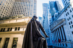 Wide-angle view of the New York Stock Exchange Royalty Free Stock Photos