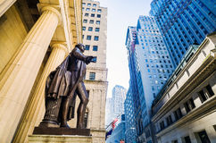 Wide-angle view of the New York Stock Exchange Stock Photo