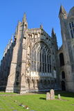 A wide-angle view of the North part of the Cathedral of Ely in Cambridgeshire, Norfolk, UK, with the external facade of Lady Chape Royalty Free Stock Photos