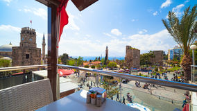 Wide angle view of old town in Antalya, Turkey Royalty Free Stock Image