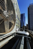 Urban HVAC Air Contidioner Outdoor Unit Manhattan New-York Royalty Free Stock Photos