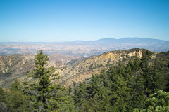 Wide Angle View Overlooking Trees and Valley Stock Photo