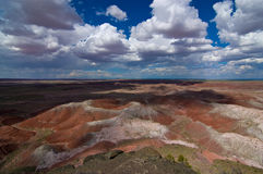 Wide-angle view of Painted Desert National Park Royalty Free Stock Photos