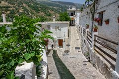 Paved streets in Alpujarra Stock Images