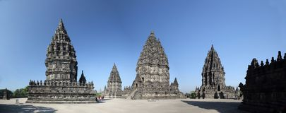 Free Wide Angle View Prambanan Temple Complex Royalty Free Stock Images - 117031769