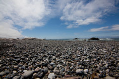 Wide Angle View of a Rocky Beach on the Oregon Coast Stock Photo
