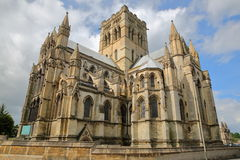 Wide-angle view of The Roman Catholic Cathedral of St John the Baptist in Norwich, Norfolk, UK. Wide-angle view of The Roman Catholic Cathedral of St John the stock photography