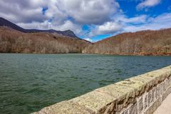 Santa Fe reservoir, winter time in El Montseny Barcelona Royalty Free Stock Images