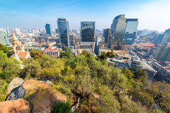 Wide Angle View of Santiago, Chile Stock Photos