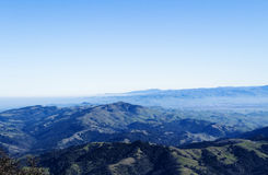 Wide Angle View South From Mount Diablo California Royalty Free Stock Image
