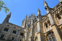 A wide-angle view of the South part of the Cathedral of Ely in Cambridgeshire, Norfolk, UK Royalty Free Stock Images