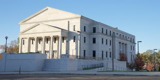 Wide angle view of the Supreme Court of Mississippi building, Jackson, Tennessee. Royalty Free Stock Photo