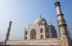 Wide Angle view of the Taj Mahal. Agra, India Royalty Free Stock Photography