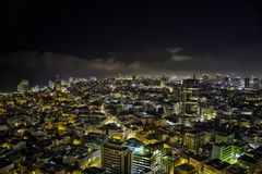 Tel-Aviv Night Cityscape Stock Photo