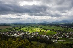 Wide-Angle View of Valley Community Royalty Free Stock Photography