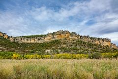 Autunm landscape in Cuenca with rock formations Stock Photos