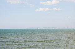 The wide-angle views of the sea. The longest in th Royalty Free Stock Photo
