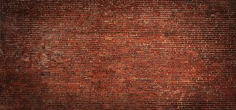 Free Wide Angle Vintage Red Brick Wall Background Stock Image - 130664541