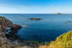 Wide Angle Wild Nature Beach Panoramic Landscape Royalty Free Stock Images