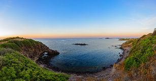 Wide Angle Wild Nature Beach Panoramic Landscape Royalty Free Stock Photography