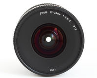 Wide angle zoom lens for SLR camera Stock Image