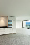 Wide apartment, modern kitchen, detail Stock Image