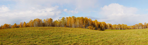 Wide autumn panorama Royalty Free Stock Photos