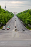 Wide Berlin street Germany Royalty Free Stock Photography