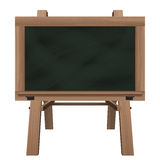 Wide blackboard on stand object isolated Stock Image