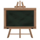 Wide blackboard on tripod object isolated Royalty Free Stock Photos