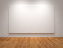 Wide Blank Canvas Stock Photo