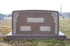 Wide, blank tombstone Royalty Free Stock Images