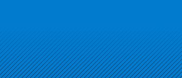 Wide blue banner with gradient thin diagonal black stripes. Wide blue background banner with gradient thin stripes with black color for presentation, template or royalty free illustration