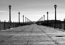 Wide boardwalk Royalty Free Stock Photo