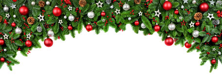Wide bow shaped Christmas border Royalty Free Stock Photo