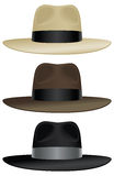 Wide brim fedora. A wide brimmed fedora in classic colors royalty free illustration