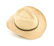 Wide brim straw hat Stock Photos