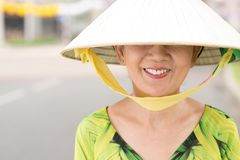 Wide-brimmed conical hat Royalty Free Stock Image