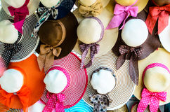 Wide Brimmed Hats. Stock Photos
