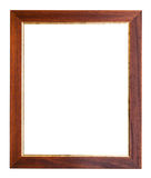 Wide brown and golden wooden picture frame Royalty Free Stock Photos