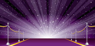 Wide burst purple Stock Images