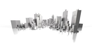 Wide cityscape Stock Image