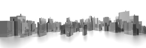 Wide cityscape Stock Photo