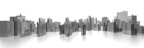 Wide cityscape Stock Photo