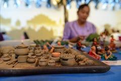 Clay models of Thai traditional cookware, Bangkok, Thailand stock photos