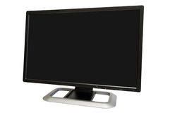 Wide computer monitor Royalty Free Stock Photography