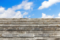 Wide concrete steps Royalty Free Stock Images